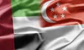 United Arab Emirates and Singapore — Stock Photo