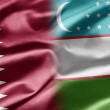 Stock Photo: Qatar and Uzbekistan