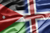 Jordan and Iceland — Stock Photo