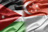 Jordan and Singapore — Stock Photo