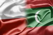 Poland and Maldives — Stock Photo