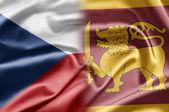 česká republika a na srí lance — Stock fotografie