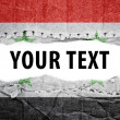 Stock Photo: Syriflag with text space.