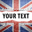 UK flag with text space. — Stock Photo