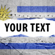 Stock Photo: Uruguay flag with text space.