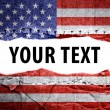 Stock Photo: USflag with text space.