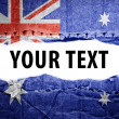Stock Photo: Australiflag with text space.