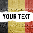 Stock Photo: Belgium flag with text space.