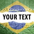 Stock Photo: Brazil flag with text space.