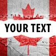 Stock Photo: Canadflag with text space.