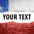 Stock Photo: Chile flag with text space.