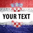 Stock Photo: Croatiflag with text space.