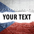 Stock Photo: Czech Republic flag with text space.