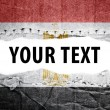 Stock Photo: Egypt flag with text space.