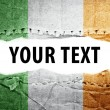 Stock Photo: Ireland flag with text space.