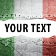 Stock Photo: Italy flag with text space.