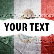 Stock Photo: Mexico flag with text space.
