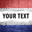 Stock Photo: Netherlands flag with text space.