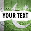 Stock Photo: Pakistflag with text space.