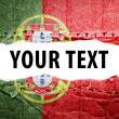 Stock Photo: Portugal flag with text space.