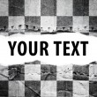 Stock Photo: Checkered flag with text space.