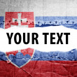 Stock Photo: Slovakiflag with text space.