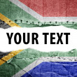 Stock Photo: South africflag with text space.