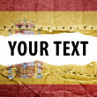 Spain flag with text space. — Stock Photo