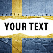 Sweden flag with text space. — Stock Photo
