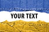 Ukraine flag with text space. — Stock Photo