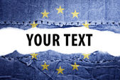 EU flag with text space. — Stock Photo