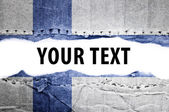 Finland flag with text space. — Stock Photo