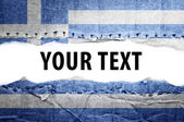 Greece flag with text space. — Stock Photo