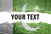 Pakista flag with text space. — Stock Photo