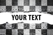 Checkered flag with text space. — Stock Photo