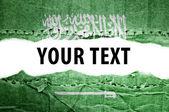 Saudi Arabia flag with text space. — Stock Photo