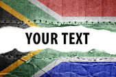 South africa flag with text space. — Stock Photo