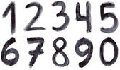 Set of grunge numbers — Stock Photo