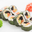 Stock Photo: Japanese cuisine - sushi and rolls