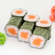 Japanese cuisine - sushi and rolls — Stockfoto