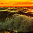 Waves at sunset — Stock Photo #34901473