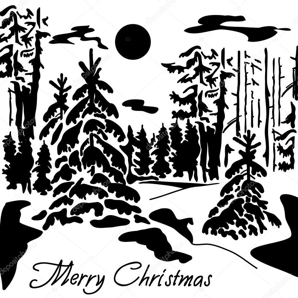 Winter Landscape Stock Vector 169 Tashh1601 12542930