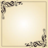 Calligraphy ornament frame — Stock Vector