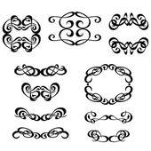 Kalligrafi prydnad ramuppsättning — Stockvektor