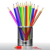 Lápices de colores — Vector de stock