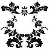 Patrón floral estilizado — Vector de stock