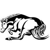 Horse wallow — Stock Vector