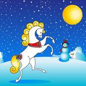 Horse winter — Stock Vector