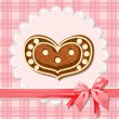 Gingerbread heart — Stock Vector