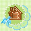 Stock Vector: Gingerbread home